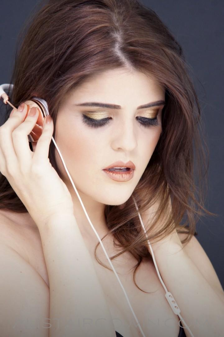 Image shot for model's portfolio<br /> Makeup: Chloe Bradley<br /> Photo: Alistair Cowin