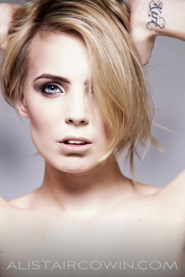 Photographs taken in Studio for Alistair Cowin's 'Beauty Book - 2015' and model's Portfolio