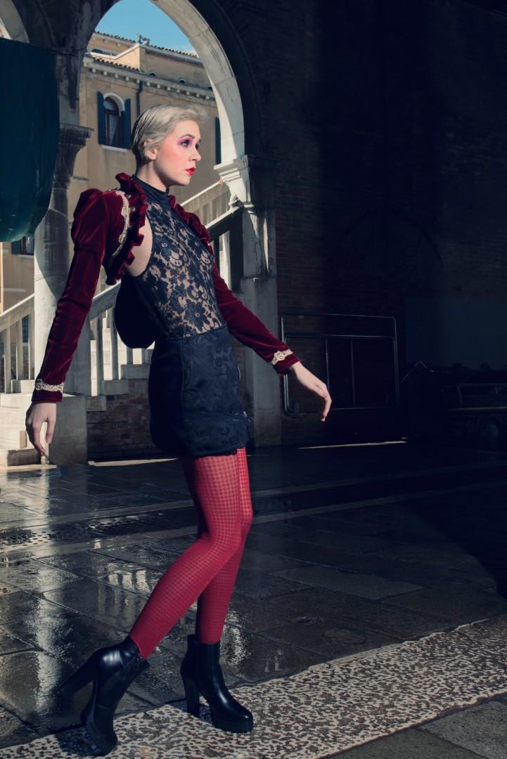 Photographer, stylist & retouch - Conrad Webb<br /> Model - Atalanta<br /> Clothing - BlackMirror Design<br /> Tights - Wolford<br /> Hair Stylist - Vimal Chavda<br /> MUA - Gwen Reece<br /> Assistant - Mark Goddard<br /> Location Venice<br /> Shot over 2.5 days in Venice, May 2016