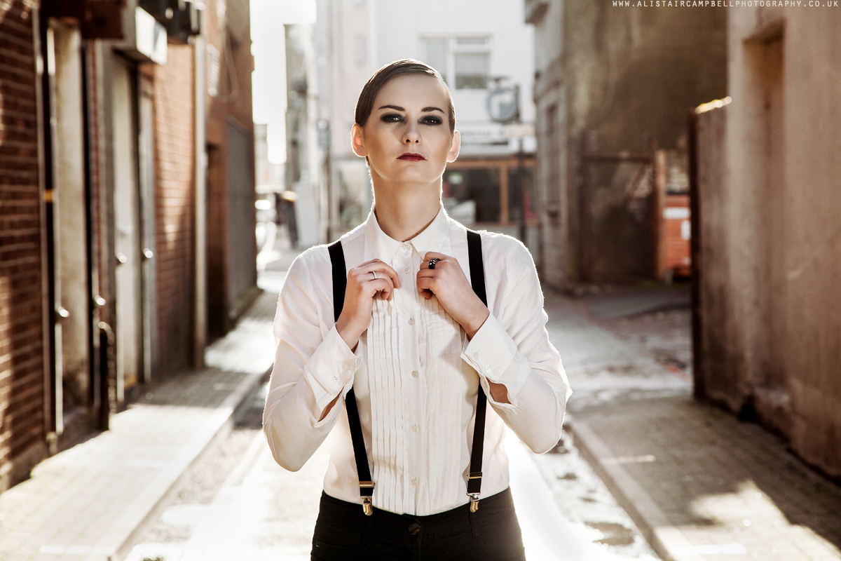 Androgynous styled street shoot with Harriet